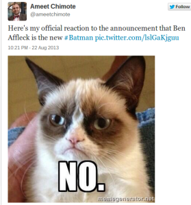 Early AM Comment From Grumpy Cat