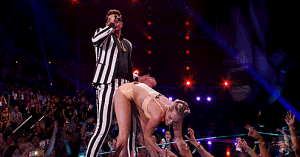 """How Thicke was it Miley?"""